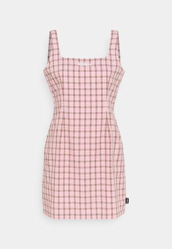 MINI GINGHAM DRESS - Day dress - pink/black