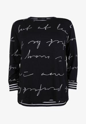 Sweatshirt - schwarz/weiß
