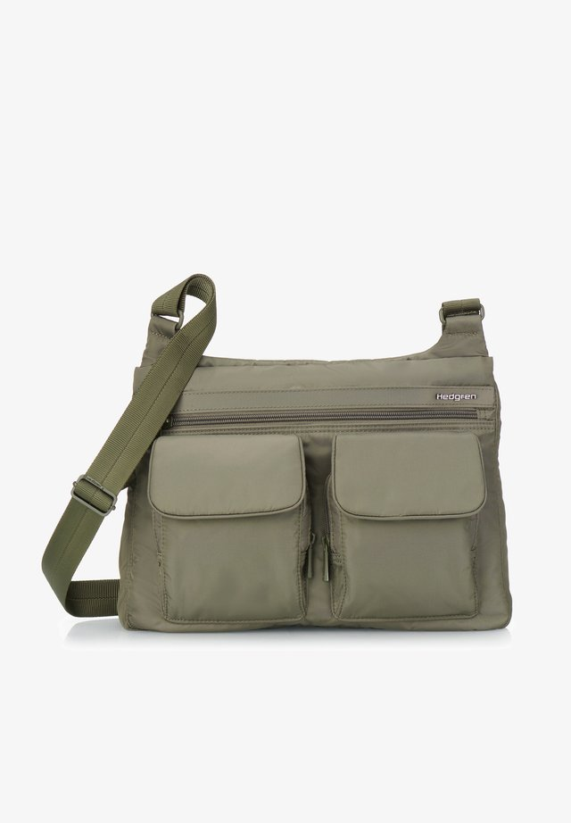 INNER CITY PRARIE - Across body bag - olive night