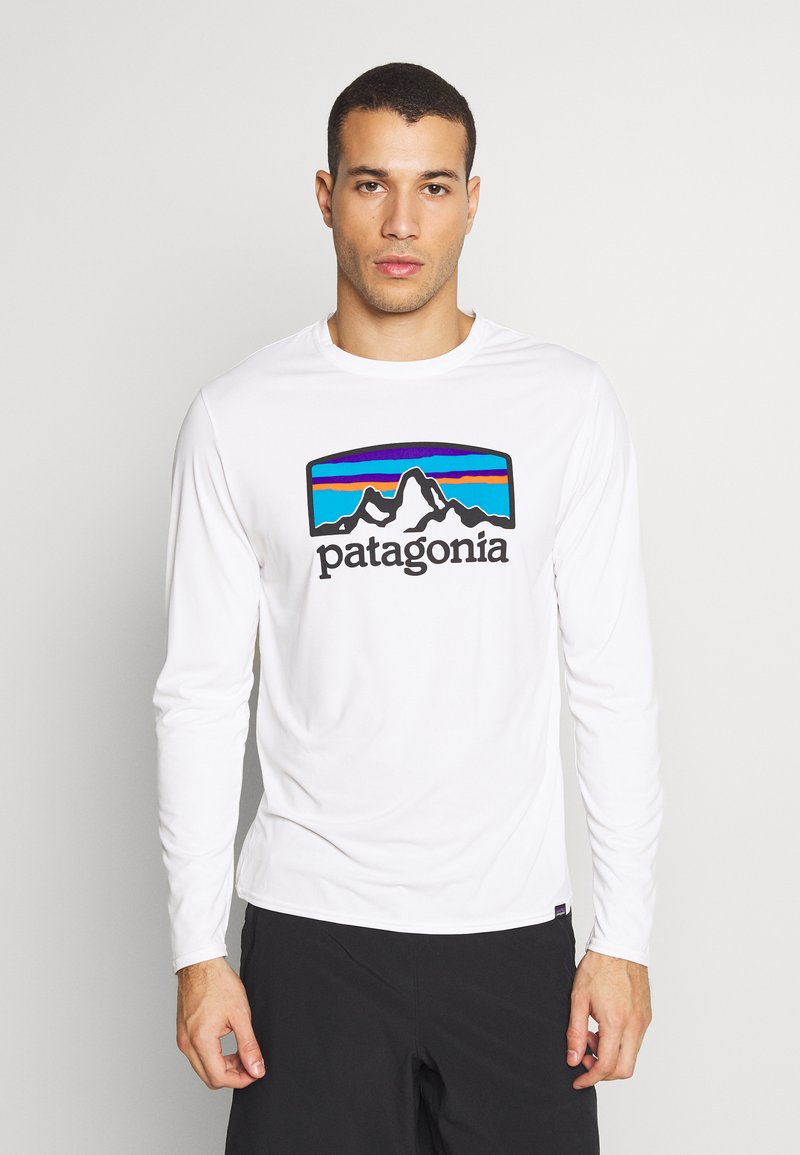 Patagonia - COOL DAILY GRAPHIC - T-shirt à manches longues - white