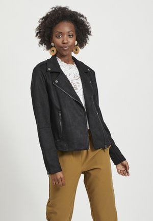 VIFADDY JACKET - Faux leather jacket - black