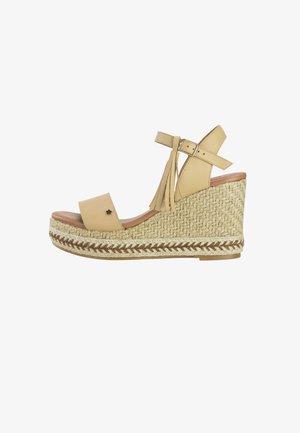 PIETRA  - Wedge sandals - beige