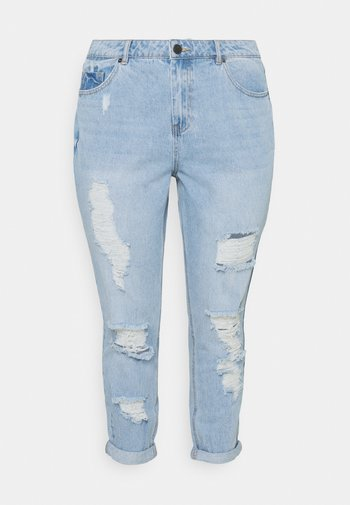 NON STRETCH SUPER MOM - Relaxed fit jeans - stonewash