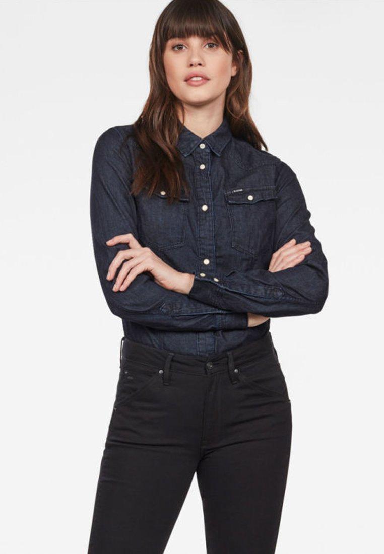 G-Star - 3301 SHIRT - Button-down blouse - blue denim