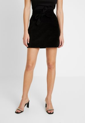BELTED MINI SKIRT - Minijupe - black