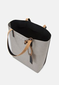 Marni - TRIBECA  UNISEX - Tote bag - natural grey/black - 2