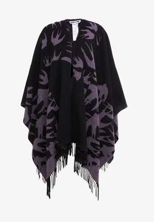 CUT UP SWALLOW - Ponczo - black/lilac