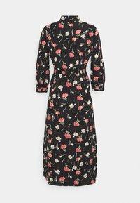 ONLY - ONLNOVA LUX 3/4 LONG DRESS - Košilové šaty - black - 6