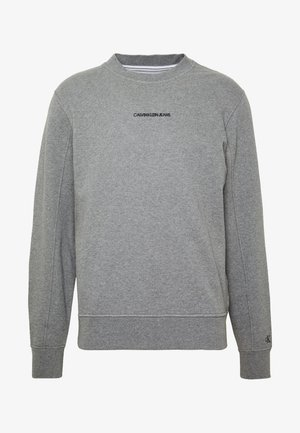 INSTIT CHEST LOGO CREWNECK - Mikina - mid grey heather