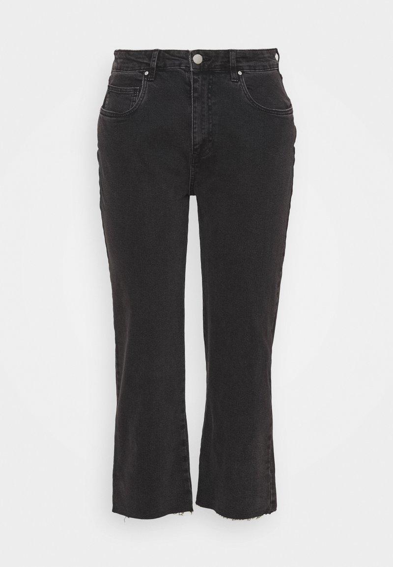 Cotton On Curve - MILLIE - Straight leg jeans - black