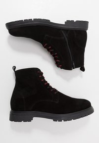 LAST STUDIO - CAIO - Šněrovací kotníkové boty - black - 1