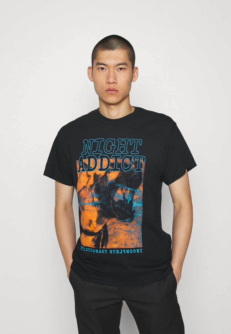 Night Addict - INCOMP - Print T-shirt - black