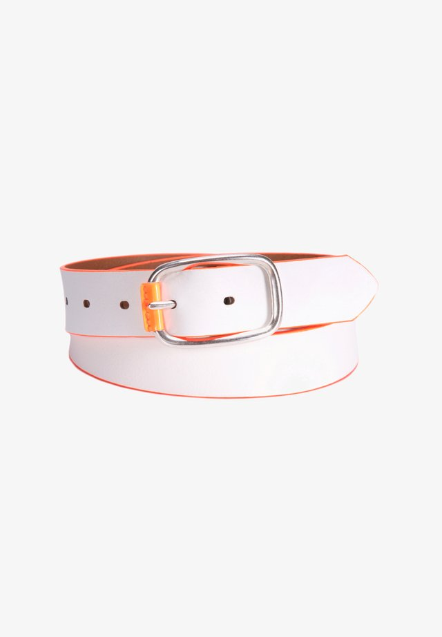 Belt business - white-orange