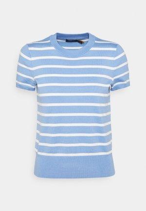 STRIPE SHORT SLEEVE - T-shirt con stampa - litchfield blue/collection cream