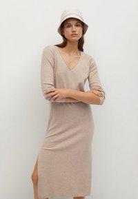 Mango - ROLLY - Jumper dress - light/pastel grey - 3