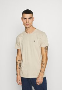 Abercrombie & Fitch - NEUTRAL CREW 5 PACK - T-shirt basic - white/rose/blue/beige/black - 4