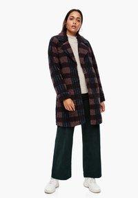 Q/S designed by - Short coat - dark ruby check - 6