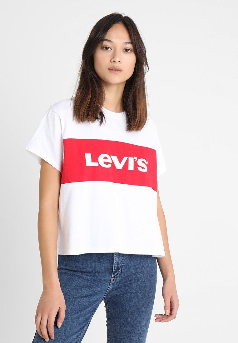 Levi's® - GRAPHIC VARSITY TEE - T-Shirt print - shortee white