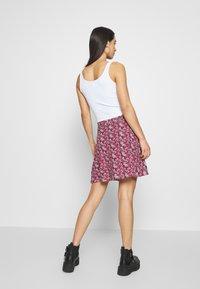 Even&Odd - 2 PACK - A-line skirt - black/red - 2
