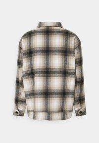 Mennace - FLECK CHECK - Summer jacket - black/ecru - 1