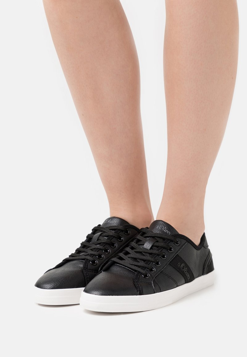s.Oliver - Sneakers laag - black