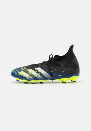 PREDATOR FREAK .3 MG - Moulded stud football boots - core black/footwear white/solar yellow