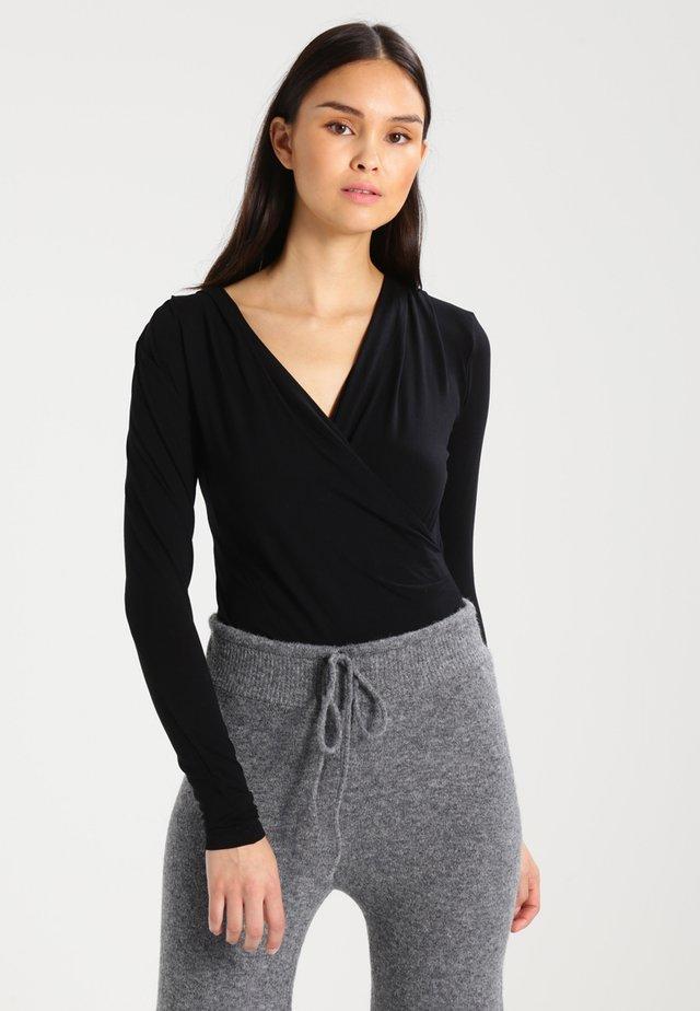 LIONE - T-shirt à manches longues - black