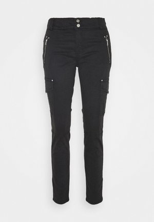 GILLES PANT - Cargo trousers - black