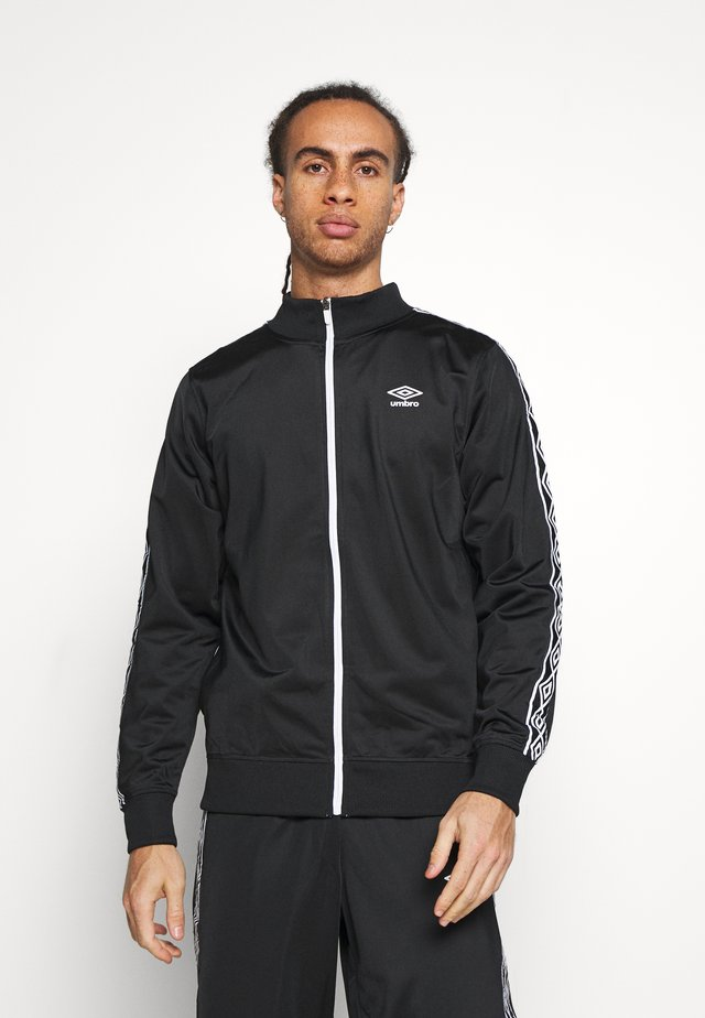 ACTIVE STYLE TAPED TRACKSUIT - Dres - black/white