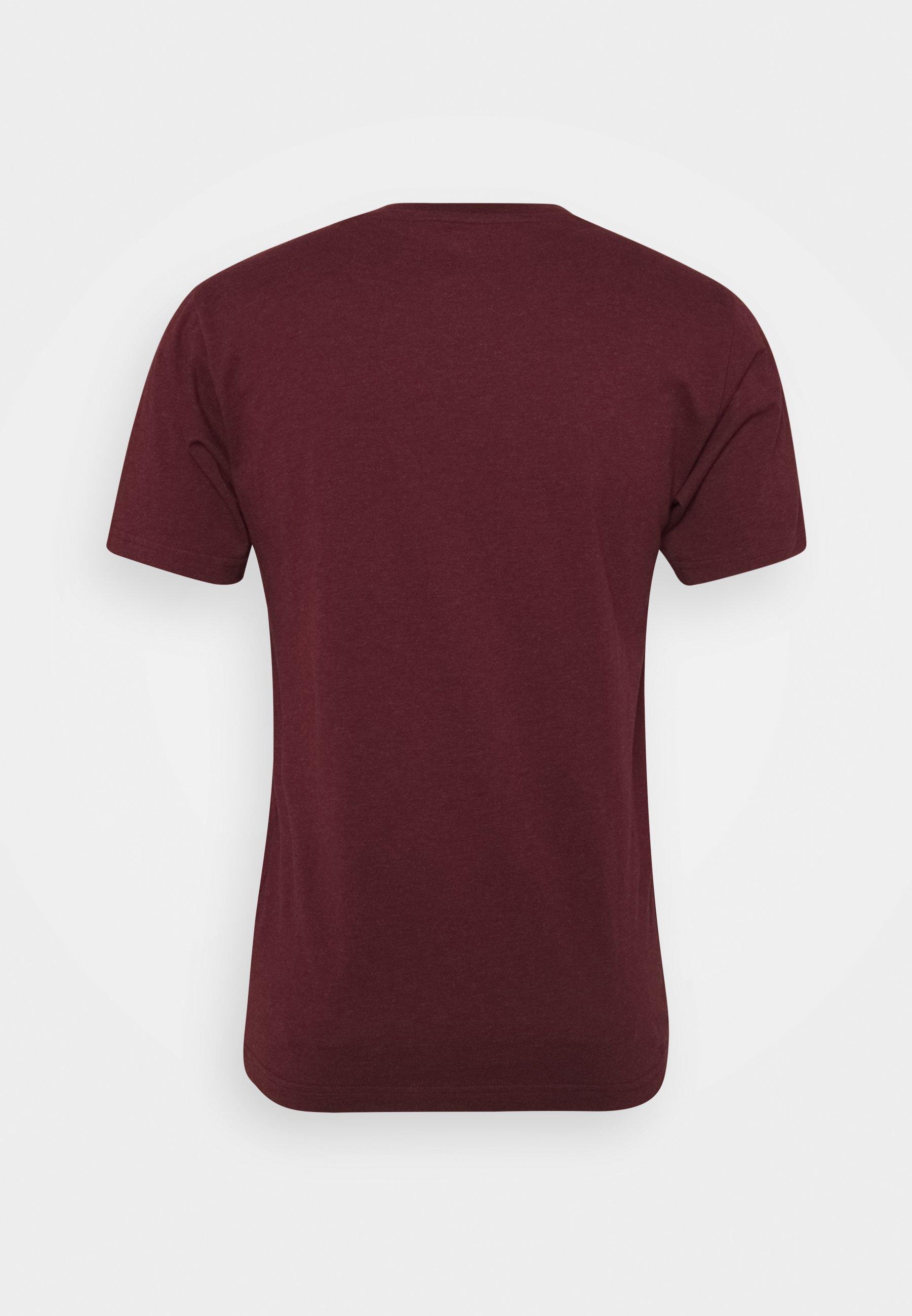 Men ESSENTIALS STACKED LOGO TEE - Print T-shirt