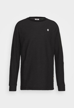KORPAZ R T L\S - Jumper - dark black/light shadow