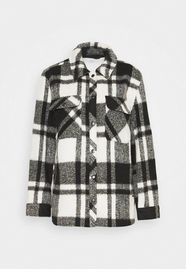 CHECK JACKET - Lehká bunda - black/white