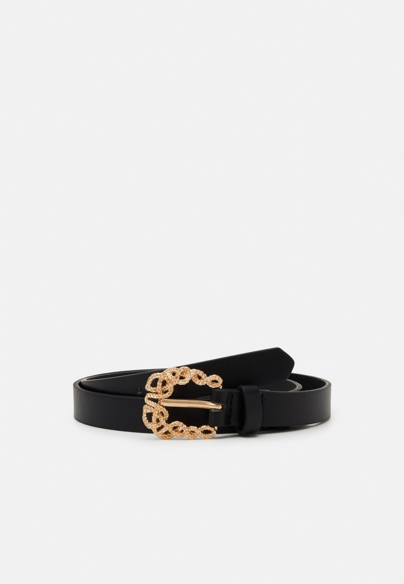 Gina Tricot - LOVISA BELT - Pásek - black/gold-coloured