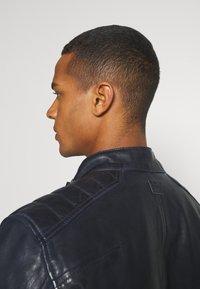 G-Star - HAWORX - Leather jacket - garris washed/mazarine blue - 4