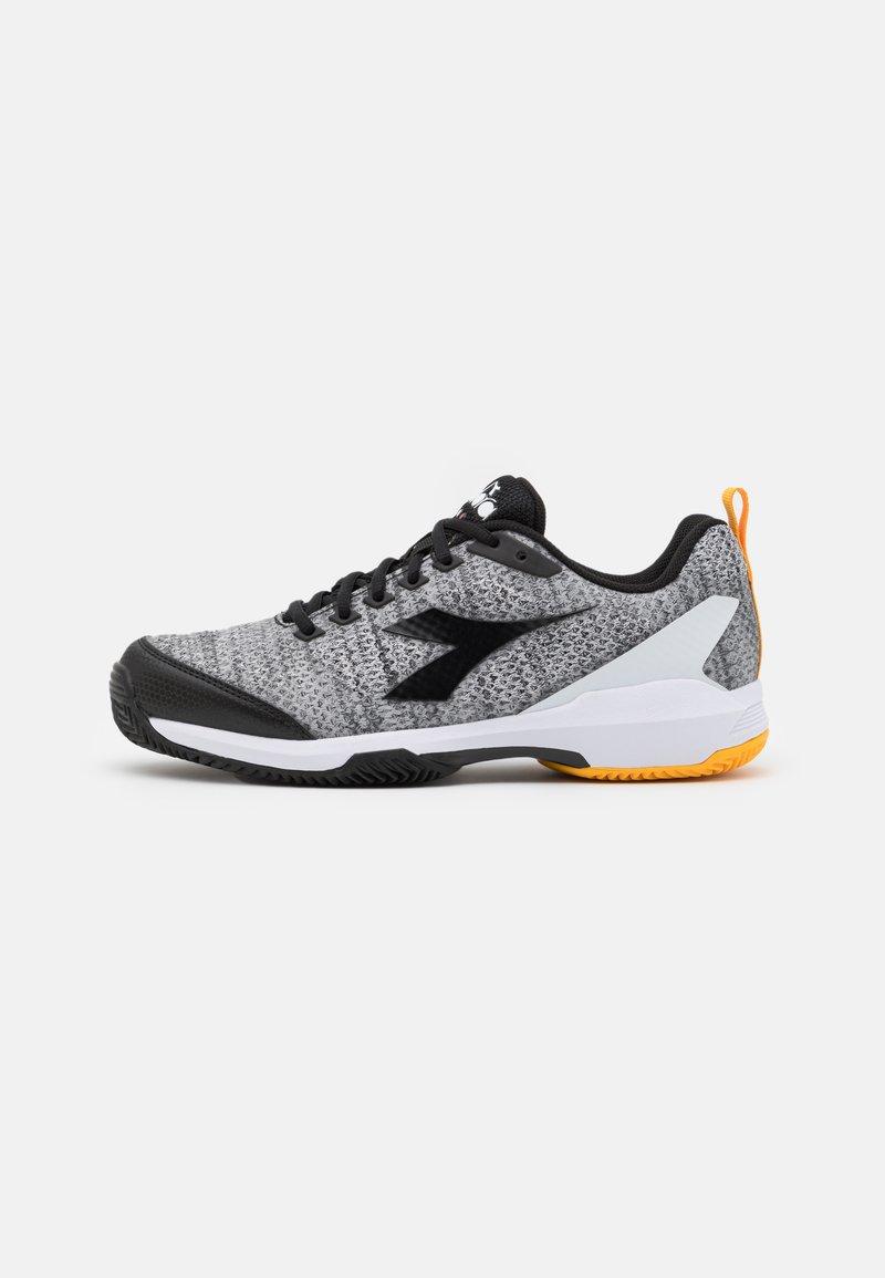 Diadora - S.SHOT 2 CLAY - Tenisové boty na antuku - steel gray/black/white