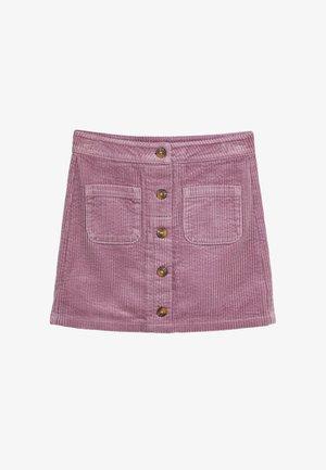 CORD  - A-line skirt - purple
