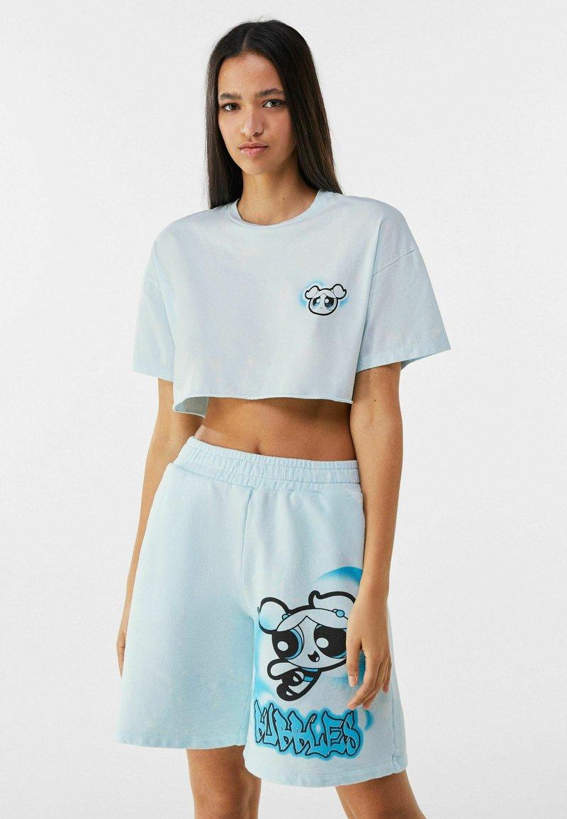 Bershka - POWERPUFF GIRLS - T-shirt imprimé - light blue