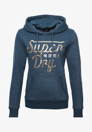 LIMITED EDITION VINTAGE SEQUIN - Hoodie - blue
