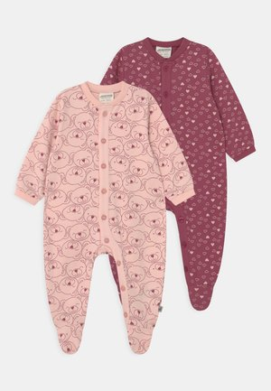 BABY LOVELY BEAR AND HEARTS 2 PACK - Sleep suit - multi-coloured