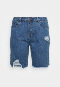 Simply Be - EXTREME RIPPED CITY  - Denim shorts - dark vintage - 6