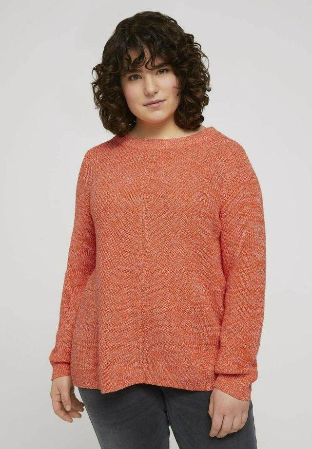 Jersey de punto - sundowner red