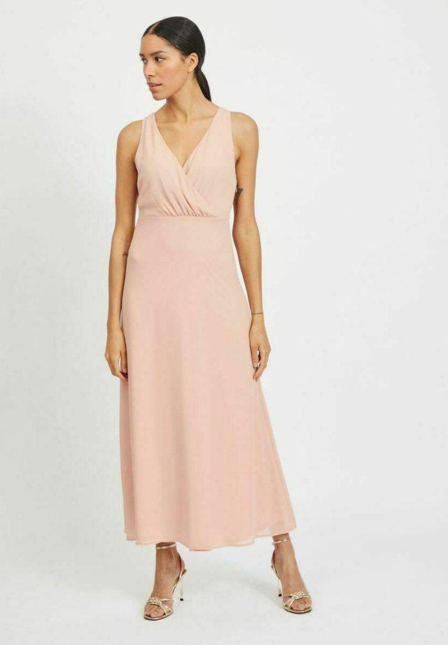 Maxi šaty - misty rose