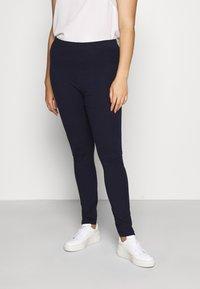 Even&Odd Curvy - 2 PACK - Leggings - Trousers - dark blue - 0