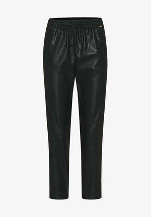 CISOLA - Leather trousers - schwarz
