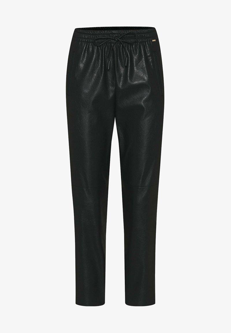 Cinque - CISOLA - Leather trousers - schwarz