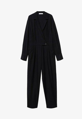 ENCOLURE CROISÉE - Jumpsuit - noir
