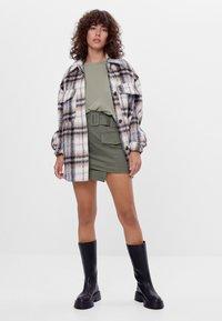 Bershka - A-line skirt - khaki - 1