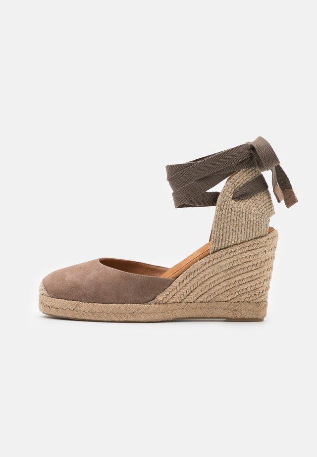 CARNOT - Sandały na platformie - funghi