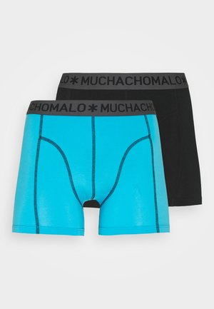 SOLID 2 PACK - Boxerky - black/turquoise