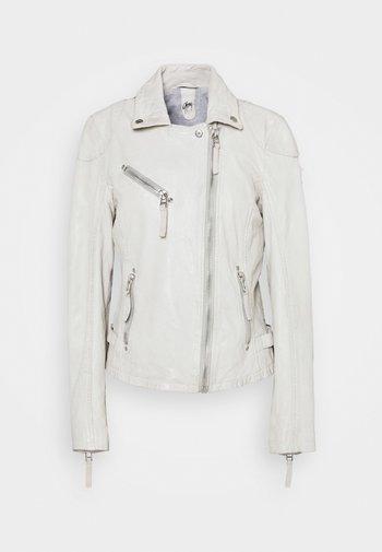 LABAGV - Leather jacket - off white